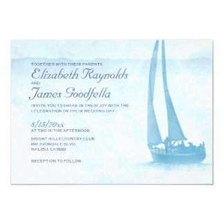 Rustic Boat Wedding Invitations