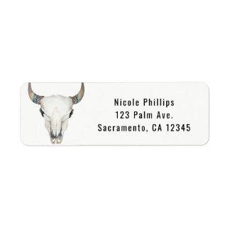 Rustic Boho Cow Skull Custom Party Invitation