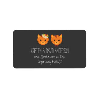 Rustic Boho Forest Cats Wedding Invitation Address Label