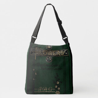 Rustic Book Cover Bags Victorian Flower Book