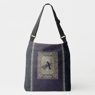 Rustic Book Cover Bags Victorian Monogrammed