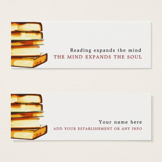 Rustic Books, Bookmark Mini Business Card