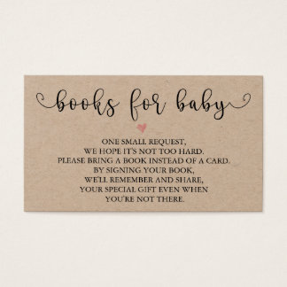 Rustic Books Request | Baby Shower Insert
