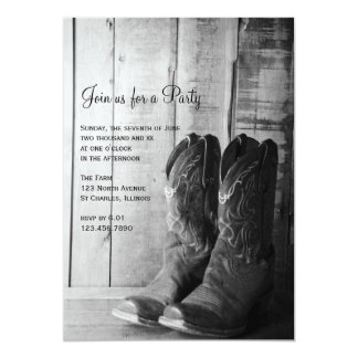 Rustic Boots Country and Western General Party Card