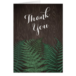 Rustic Botanical Fern Wedding Thank You Cards