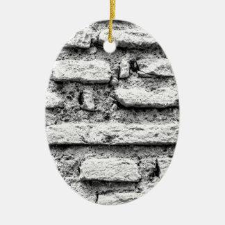 Rustic brickwall christmas ornament