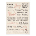 Rustic Bridal Shower Game- Pick a Ring Card