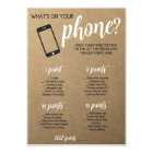 Rustic Bridal Shower Game- Whats in Your Phone Card