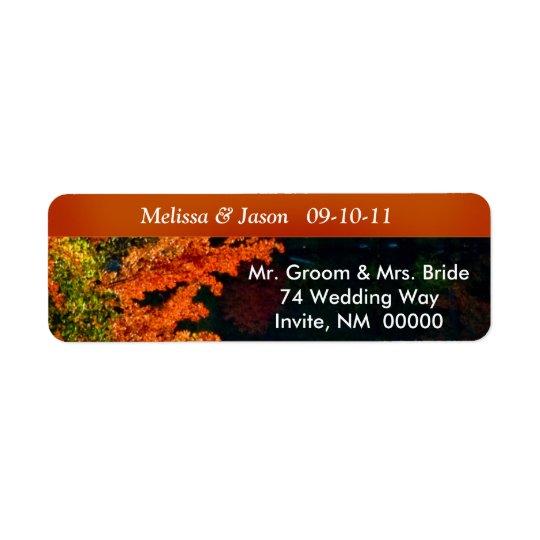 Rustic Bride Groom Fall Foliage Wedding Invite