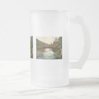 Rustic Bridge in Glenariff. Co. Antrim, Ireland Frosted Glass Beer Mug