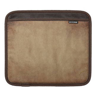 Rustic Brown Abstract Art iPad Sleeve