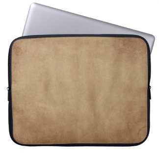 Rustic Brown Abstract Art Laptop Sleeve