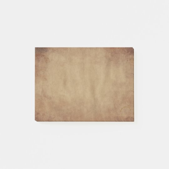 Rustic Brown Design Post-It Notes