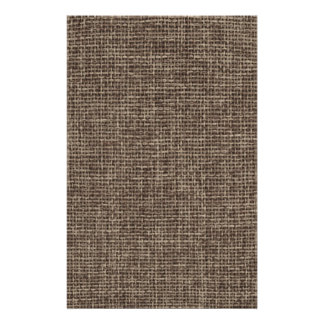 Rustic Brown Faux Burlap Stationery