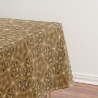 Rustic Brown Kaleidoscope Star Pattern Tablecloth