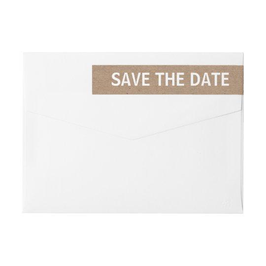 Rustic Brown Kraft Paper Save The Date Wedding