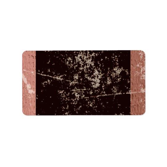 Rustic Brown & Pink Label