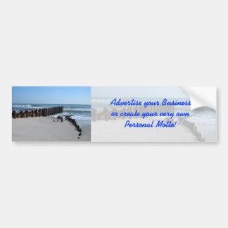 Rustic Bulkhead on Beach Bumper Sticker