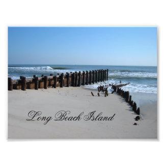 Rustic Bulkhead on Beach Photo Print