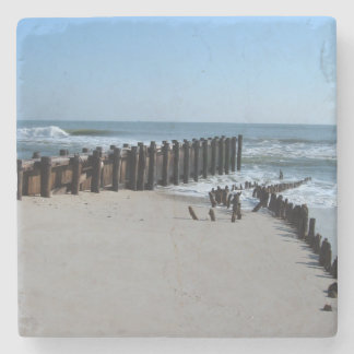 Rustic Bulkhead on Beach Stone Coaster