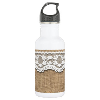 Rustic Burlap and Lace 532 Ml Water Bottle