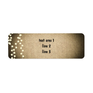 Rustic Burlap and Lights Country Address Labels