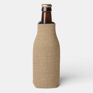 Rustic Burlap Background Printed Bottle Cooler