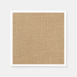 Rustic Burlap Background Printed Paper Napkins