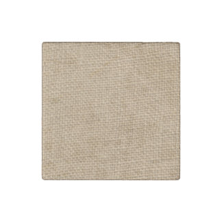 Rustic Burlap Background Printed Stone Magnet