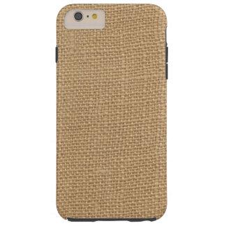 Rustic Burlap Background Printed Tough iPhone 6 Plus Case