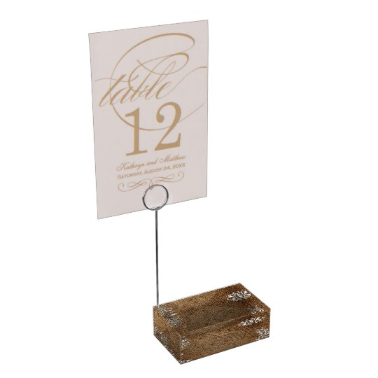 rustic burlap lace country wedding table card holder
