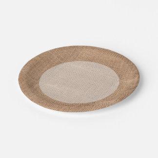 Rustic Burlap Paper Plate