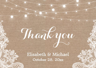 Rustic Thank You Cards Zazzle Uk