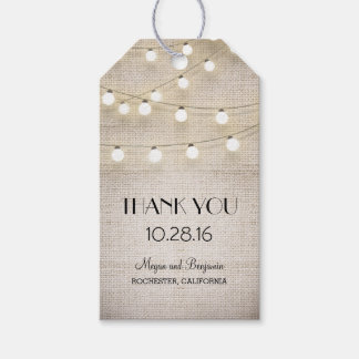 Rustic Burlap String Lights Wedding