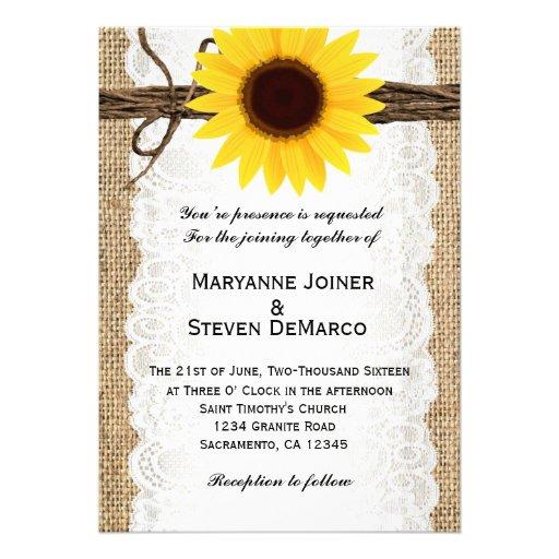 Sunflower Wedding Invitations, 5,000 Sunflower Wedding ...