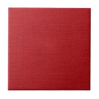 Rustic Burlap Texture Red Tile