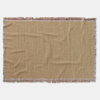 Rustic Burlap Texture Throw Blanket