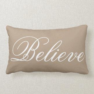 Rustic Burp Christmas Believe Holiday Lumbar Cushion