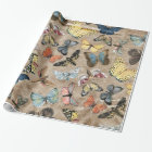 Rustic Butterfly Wrapping Paper