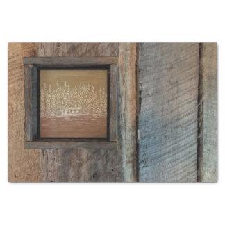 Rustic Cabin Art Tissue Paper