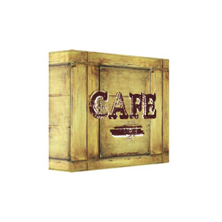 Rustic Cafe Kitchen Canvas Print - Aged Paint 3.0
