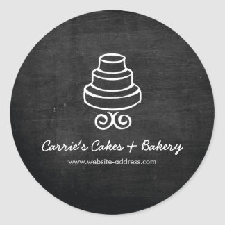RUSTIC CAKE LOGO Bakery, Catering Stickers