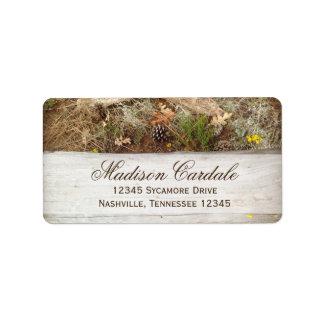 Rustic Camo and Wood Return Address Label