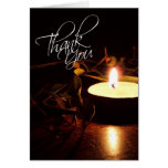 Rustic Candlelight Earthy Thank You Card