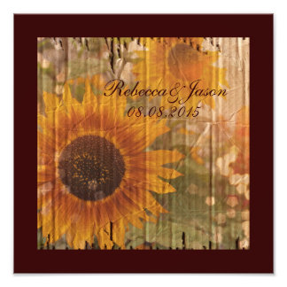 rustic cardboard country sunflower wedding photograph