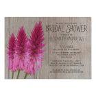 Rustic Celosia Bridal Shower Invitations