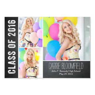 Rustic Chalk Graduation Announcement/Invitation 13 Cm X 18 Cm Invitation Card