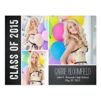 Rustic Chalk Graduation Announcement Postcard