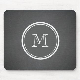 Rustic Chalkboard Background Monogram Mousepads