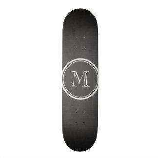 Rustic Chalkboard Background Monogram Skate Boards